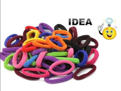 Best out of Waste Craft Idea   Reuse old Wire   recycle Rubber band   DIY hanging