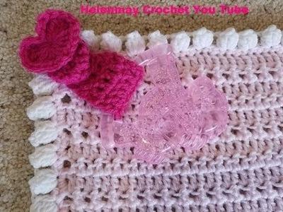 Crochet Quick Easy Beginner Beautiful Baby Security Blanket DIY Video tutorial