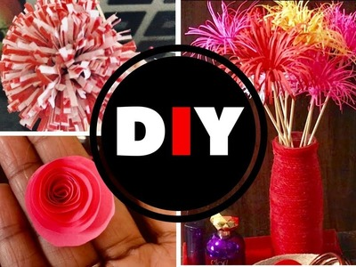 D I Y Flower & a Vase Craft. Valentines Day Special
