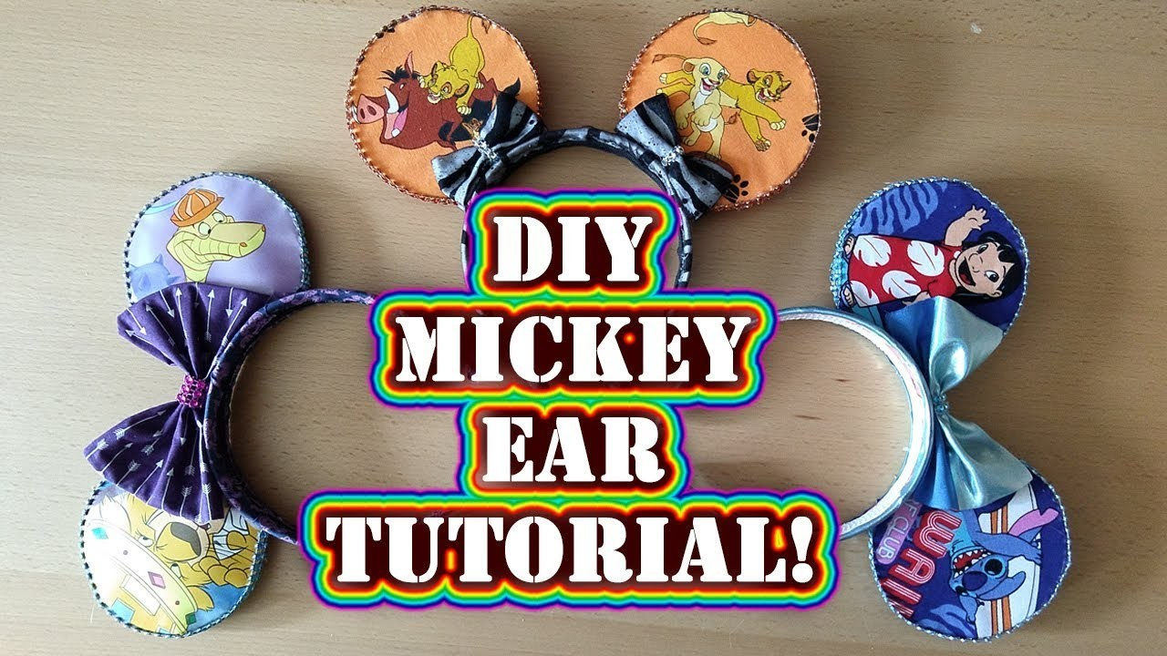 Disney Crafting: How to Make Mickey Ears - DIY Tutorial No Sew Step by Step Process