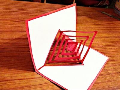 DIY 3D magical  POP UP card Crafts-Handmade Craft