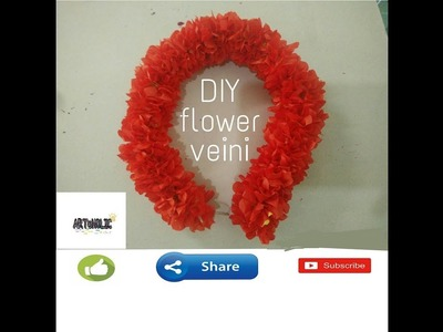 DIY Artificial CROSSANDRA Veini(kanakambram flowers).Artificial veini easy tutorial.ARToHOLIC
