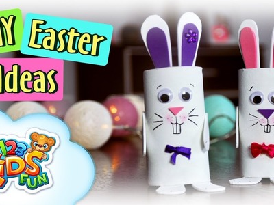 DIY by Creative Mom | Easy Easter Bunnies Paper Roll Crafts by 123 Kids Fun