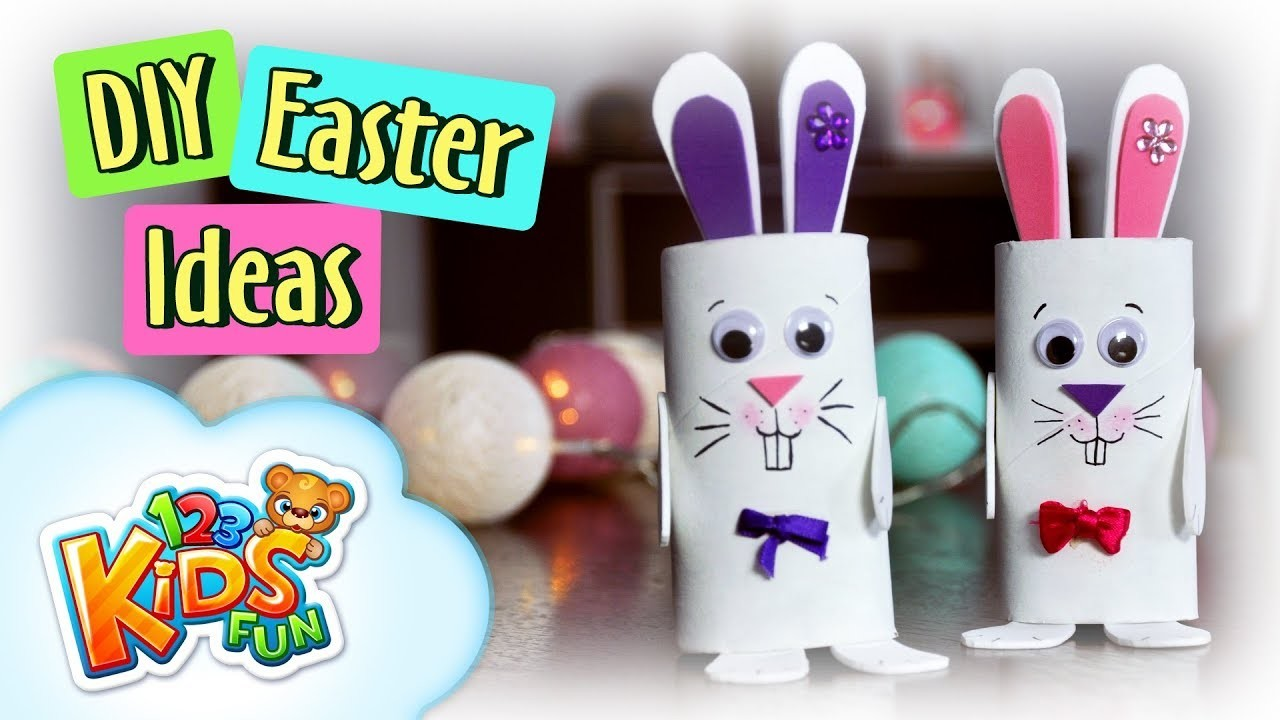 DIY by Creative Mom   Easy Easter Bunnies Paper Roll Crafts by 123 Kids Fun