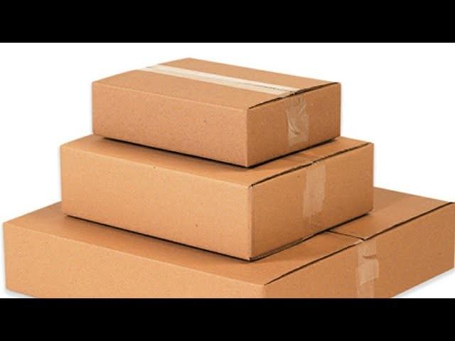 DIY Cardboard organizer - Craft made with cardboard BOX - kitchen Drawer Organizer using waste box