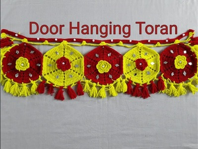 DIY Door Hanging Toran Woolen Handmade Toran Very Easy. How to Make Hanging Door toran