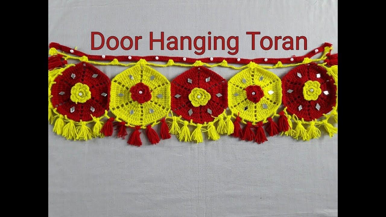 DIY Door Hanging Toran Woolen Handmade Toran Very Easy. How to Make Hanging Door toran
