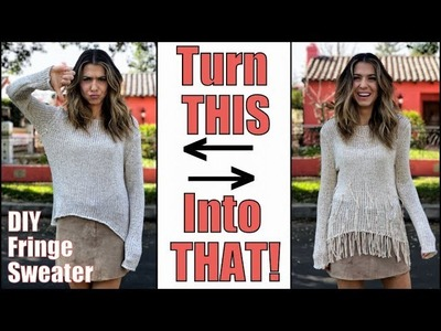 DIY: How To Make a Fringe Sweater