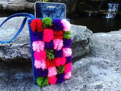 DIY; How To Make Mobile Cover With Yarn |  کاردستی، ساخت پوش مبایل