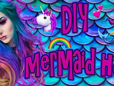 DIY Mermaid Rainbow Hair