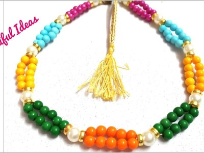 DIY. Multi Color Pearl Designer Necklace Making at Home.Beads Designer Necklace.Beautiful Ideas