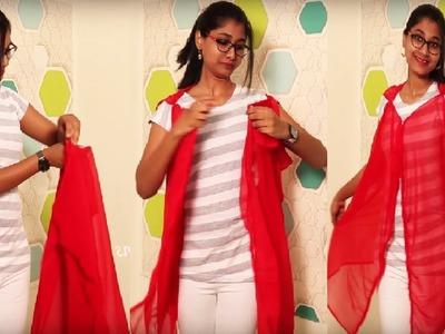DIY No Sew  Wear Scarf. Dupatta in Different ways   Quick & Easy way
