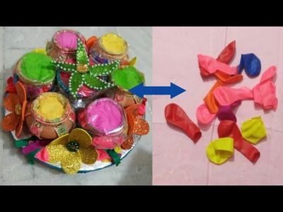 Diy platter | diy packings | wedding ideas Holi Festival Color Platter |How to make | Holi Gift Idea