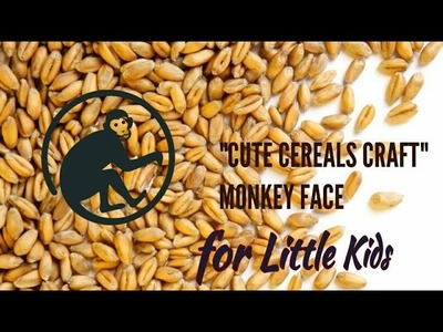 DIY SCHOOL PROJECT IDEA FOR KIDS | CEREALS CRAFT | MONKEY MAKING with WHEAT Grains | Kids Craft Idea