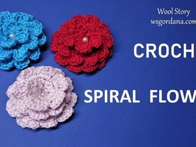 DIY Tutorial - Crochet Spiral Flower
