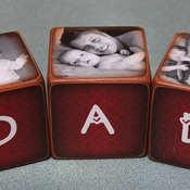 Father's Day Mother's Day Personalized Photo blocks SET of THREE