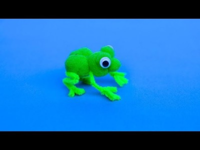 Frog Life Cycle Craft for Kids with Pom Poms