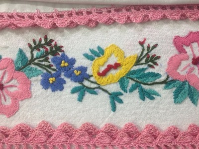 Hand Embroidery | How to do embroidery on Bed Sheet Embroidery