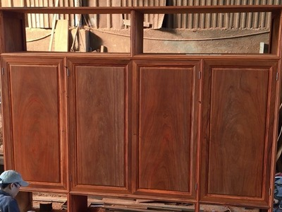 How To Build Wardrobe Extremely Large From Hardwood(Part2) - Making Wardrobe Door Extremely Simple