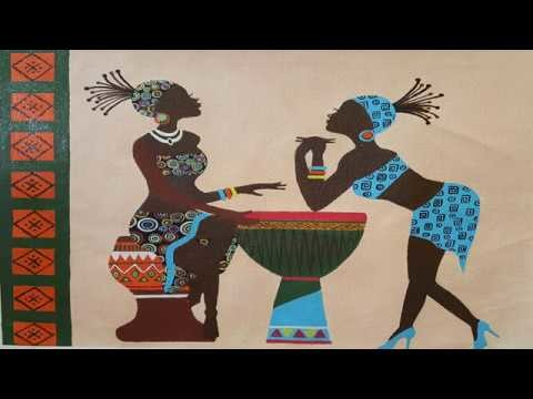 How to draw african ladies - acrylic painting - art work