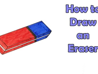 How to Draw an Eraser - VERY EASY - FOR KIDS