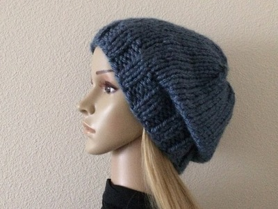 How To Knit A Unisex Hat, Lilu's Handmade Corner Video # 228