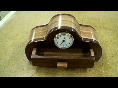 How to make a cherry and walnut bandsaw box with a clock