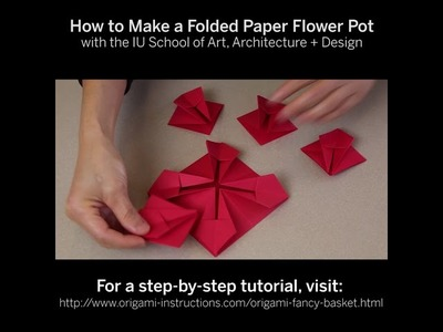 How to Make a Folder Paper Flower Pot - Indiana University SoAAD