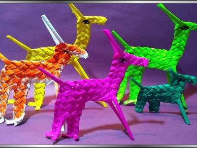 How to make a kite paper deer. DIY paper craft.