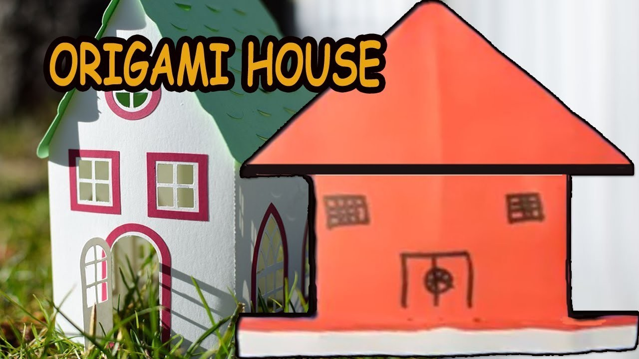 How to make a paper house - 3D paper house