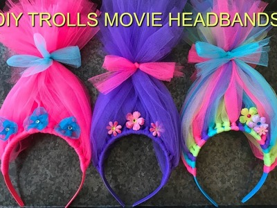 How to Make a TROLLS MOVIE HEADBAND I DIY I How to Cook Craft and Kids