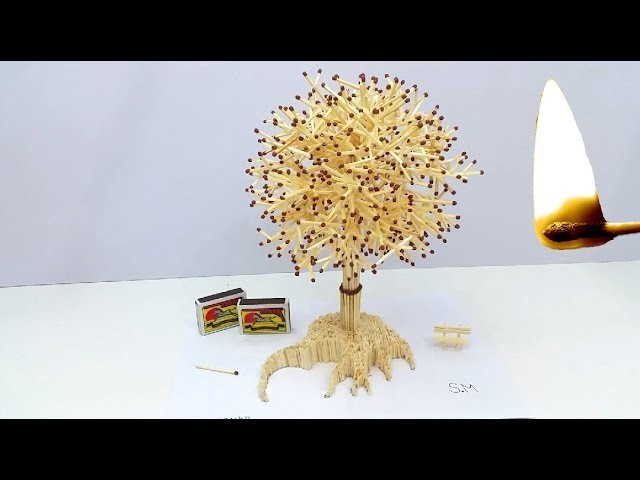How to Make Amazing Tree from Matches With Glue