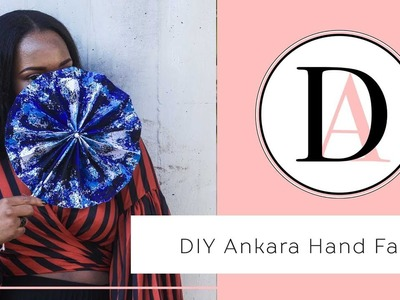 How to make an Ankara Hand Fan in 5minutes! ||  Circle Hand Fan