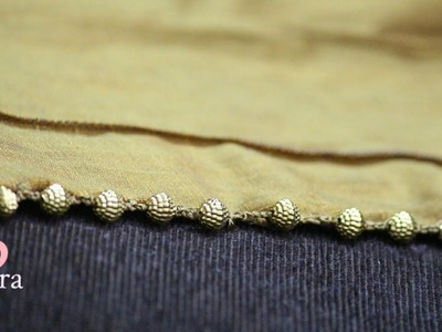 How to make Beaded Saree border