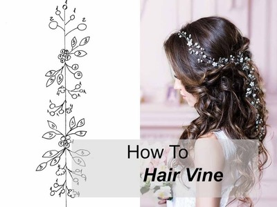 How to Make Long Hair Vine With Flowers Leaves - Easy DIY Hair Accessory Hair Comb, Tiara, Headband