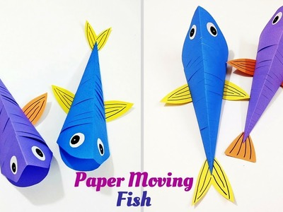 How to Make Paper Moving Fish | Origami Fish | Paper Fish Craft | Craftastic