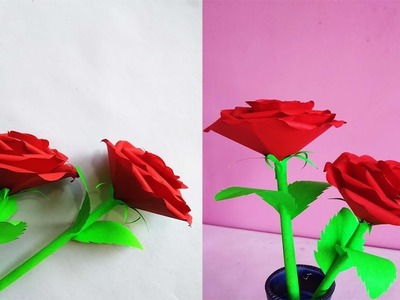 How to Make paper Real Roses || Origami Rose || Valentine Red Rose