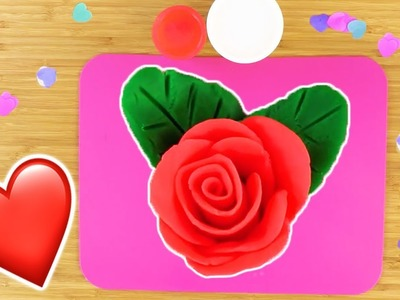 How To Make.  Play Doh Red Roses For Valentine's Day ❤ Valentines Craft Ideas ???? Crafty Kids