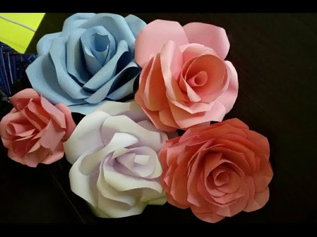 How to make realistic paper roses easy crafts mukesh arts mightylinksfo