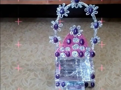 How to make Sai baba singhasan.foilpaper craft work at home.