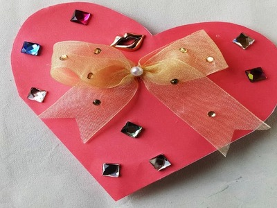 How to make Valentine's Day gift card with a paper.DIY Gift & Decoration Ideas.