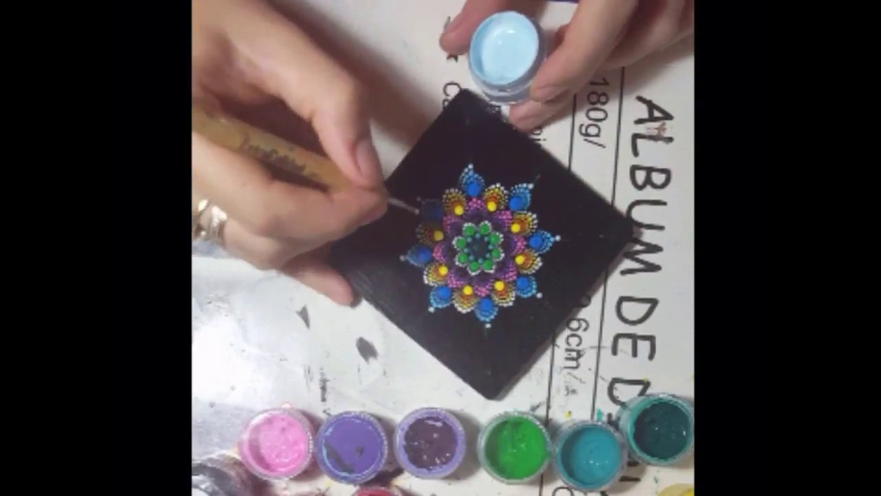 How to paint Mandala for BEGINNERS!!  Flower#2 ????????????????. yess. I put the lamp on a wrong side!! WÁÁ