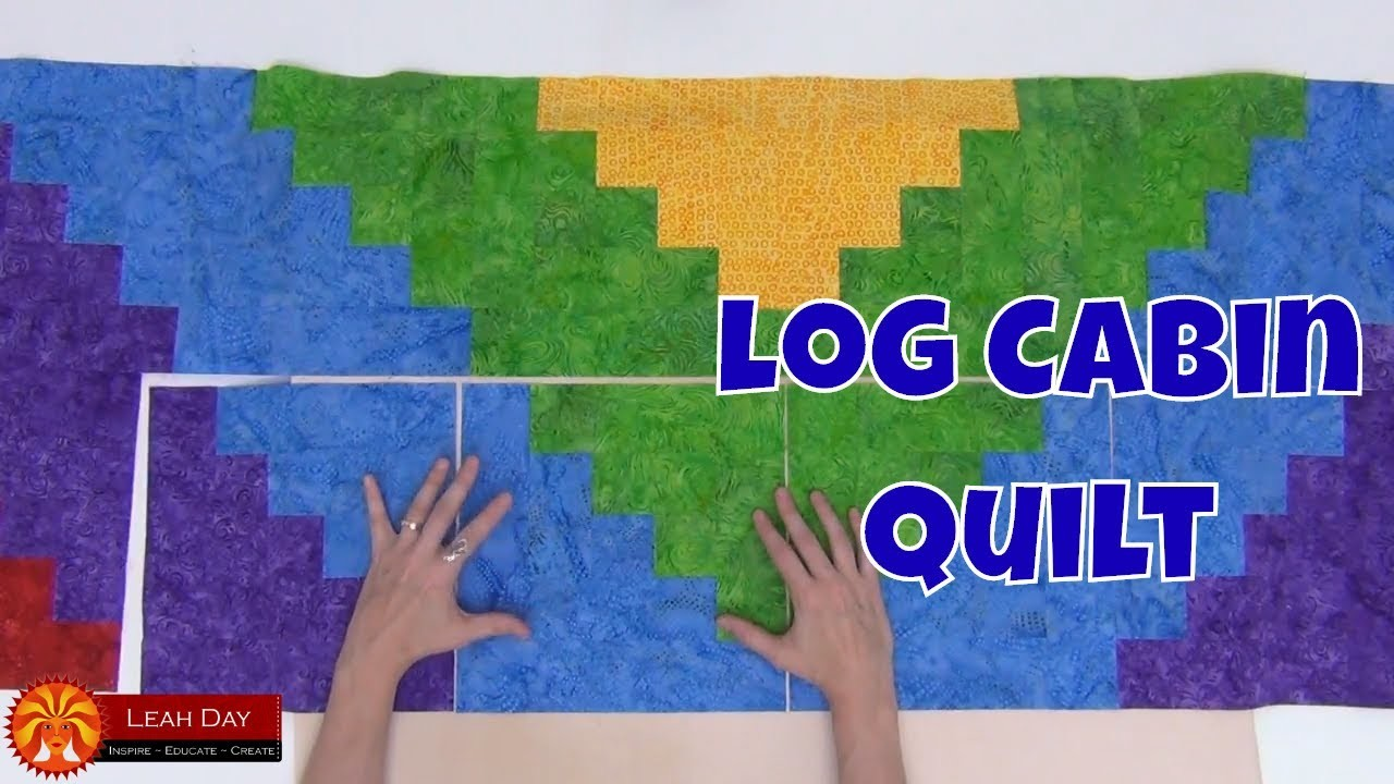 How to Piece a Log Cabin Quilt - Beginner Quilting Tutorial with Leah Day