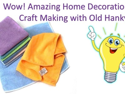 How to reuse handkerchiefs # DIY art and crafts | diy waste material craft Ideas