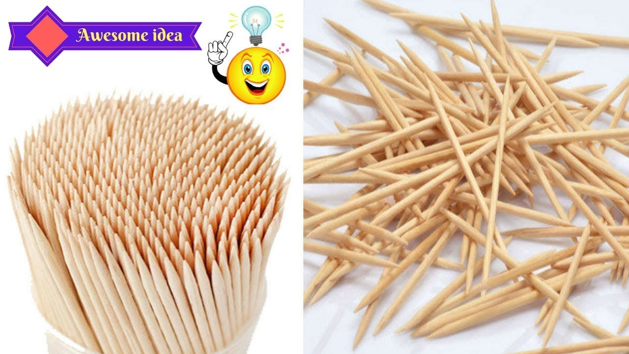 How to reuse toothpicks to make homemade craft - Genius way to reuse toothpicks - Best out of waste
