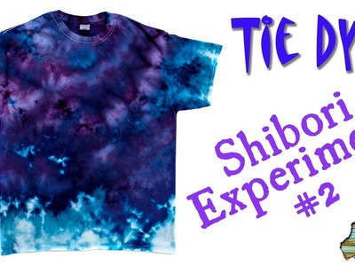 How to Tie Dye:  Shirbori Experiment #2  [Ice Dye]