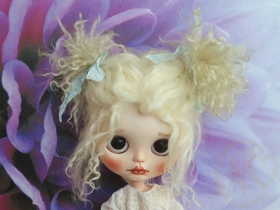 How to use my handmade mohair Blythe wig instruction