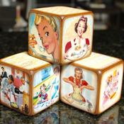 Kitchen Decorative Blocks Using Vintage Images