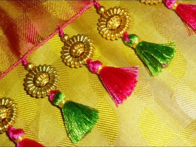 Kuchu design on saree # 2.How to make saree kuchu