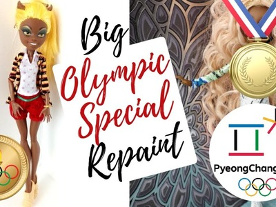 Olympics Special Monster High Doll Repaint. Figure Skating. PyeongChang 2018. How To Customize